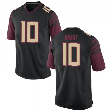 Youth Anthony Grant Florida State Seminoles Nike Replica Black Football College Jersey